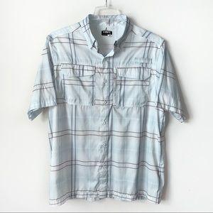 Habit shirt men's large 40 SPF hiking textured
